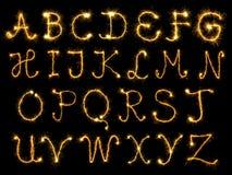 Encendido de alfabeto Imágenes de archivo libres de regalías