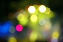 Encendido de luces en la noche Fotos de archivo libres de regalías