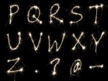 Encendido del alfabeto RtoZ Foto de archivo