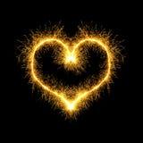 Encendido del corazón Fotografía de archivo libre de regalías