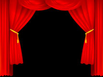Encene cortinas Imagens de Stock Royalty Free