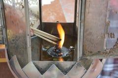 Encens d'éclairage Image libre de droits