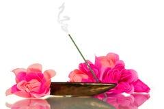 Encens pour la méditation Image libre de droits