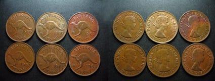 Encentmynt för australier för mynttappningkoppar Royaltyfri Bild