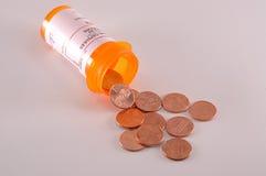 encentmynt pills royaltyfria bilder