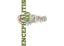 Encephalitis A Brief Overview Text Background  Word Cloud Concept Royalty Free Stock Photos