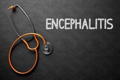 Encephalitis Handwritten on Chalkboard. 3D Illustration. Royalty Free Stock Photo