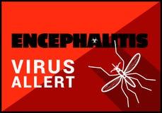 Encephalitis virus allert vector outline Stock Image