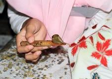 Encerar el batik Foto de archivo libre de regalías