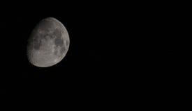 Encerar la luna con las estrellas Fotos de archivo
