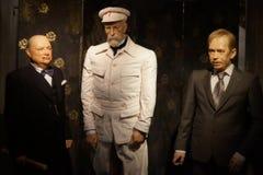 Encere la estatua Winston Churchill, Tomas Garrigue Masaryk y clav Havel del ¡de VÃ Foto de archivo