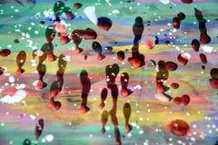 Encere las formas, la pintura, las sombras y las tonalidades de la acuarela en fondo abstracto Imágenes de archivo libres de regalías