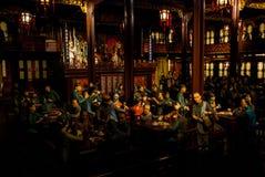 Encere o modelo do povo chinês antigo no restaurante fotos de stock royalty free
