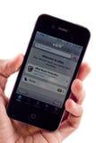 Enchère eBay de l'iPhone 4 d'Apple photographie stock