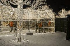 Enchant λαβύρινθος και αγορά Χριστουγέννων ελαφρύς Στοκ Φωτογραφίες