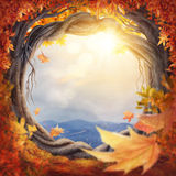 Enchanted autumn forest stock image