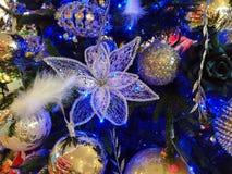 Enchanted blue christmas tree Royalty Free Stock Photography