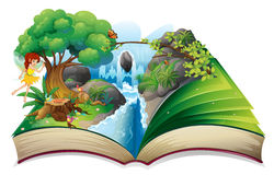 An enchanted book Stock Images