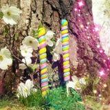 Enchanted Candy Garden Royalty Free Stock Photos