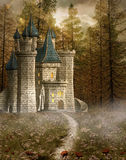 Enchanted castle. In the evening light Royalty Free Stock Photos