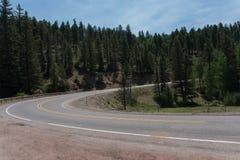 Enchanted Circle Scenic byway near Taos, New Mexico. royalty free stock photo