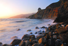 Enchanted Coast. Line in Californias Big Sur Stock Photography