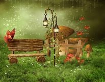 Enchanted fairy garden Royalty Free Stock Photos