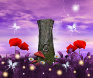 Enchanted flora. An enchanted backgroud: an enchanted nature illustration Stock Photos