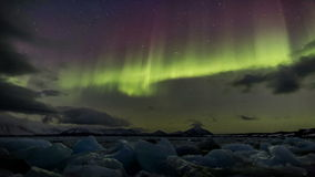Enchanted Northern Lights in the Arctic stock footage