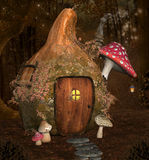 Enchanted pumpkin house Royalty Free Stock Image