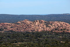 Enchanted rock view from summit stock photos