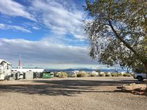 Enchanted Trails RV Resort, Albuquerque, NM royalty free stock photography
