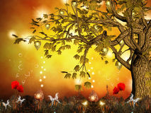 Enchanted tree. An enchanted tree and an incredible nature background Stock Photos