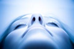 Enchantement du visage de femme Photographie stock libre de droits