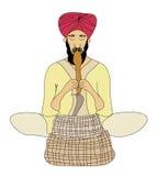 Enchanter de cobra - illustration de griffonnage illustration libre de droits