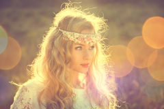 Enchanting Bride on Nature Background Royalty Free Stock Photo