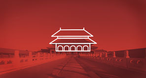 Enchanting Forbidden City Beijing Early Morning Sunlight Concept Royalty Free Stock Photography