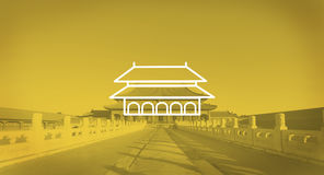 Enchanting Forbidden City Beijing Early Morning Sunlight Concept Stock Photography