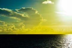 Enchanting horizon. A awesome, enchanting, peaceful evening horizon out at sea Royalty Free Stock Photo