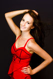 Enchanting Lively Woman Stock Images
