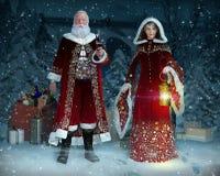 Enchanting Mr and Mrs Santa Claus at Christmas Evening
