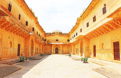 Enchanting Nahargarh fort jaipur rajasthan india. Courtyard in this fairy tale like fort was built in 1734 by Maharaja Sawai Jai Singh II. The construction of Royalty Free Stock Photos
