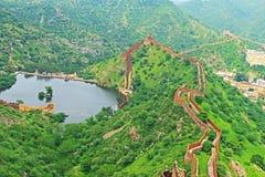 Enchanting Nahargarh fort jaipur rajasthan india Royalty Free Stock Photography