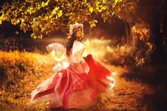 Enchanting Nymph in forest. Stock Image Stock Images