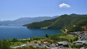 The enchanting scenery of Lugu lake Stock Images