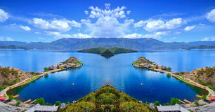 The enchanting scenery of Lugu lake Royalty Free Stock Photos