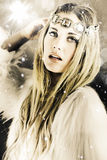 Enchanting Snow Princess Stock Photo