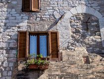The Enchanting Streets of Asssi. Views along the enchanting streets of Assisi, Italy royalty free stock image
