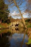 Enchanting 18th century grotto on the lake. Painshill Park, Surrey. Known as the Crystal Grotto, this was built in the 1760s. The interior is made up of stock photography