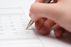 Enchendo o formulário Imagens de Stock Royalty Free
